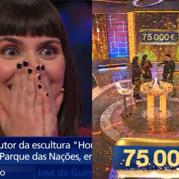 Concorrente do 'Joker' ganhou o prémio de 75 mil euros!