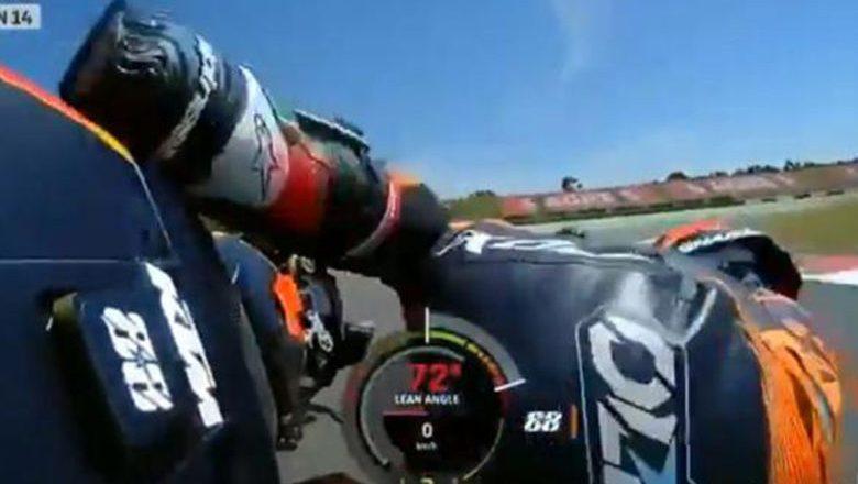 Na sexta volta do GP Portugal, Miguel Oliveira caiu (vídeo)