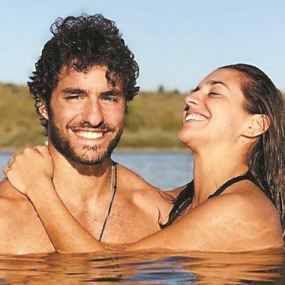 Bárbara Branco em cenas eróticas com o namorado na televisão